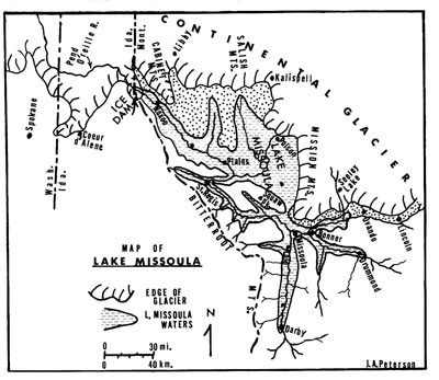 Glacial Lake Missoula Map